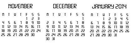 Nov - Jan 2014