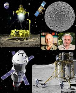 ESA RSA Moon South Pole